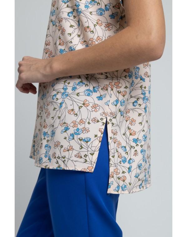 Блузка свободного силуэта. 0235-01-27-02-16