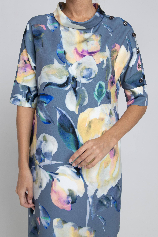 Эффектное платье из ткикотажа.  0098-03-13-01-17