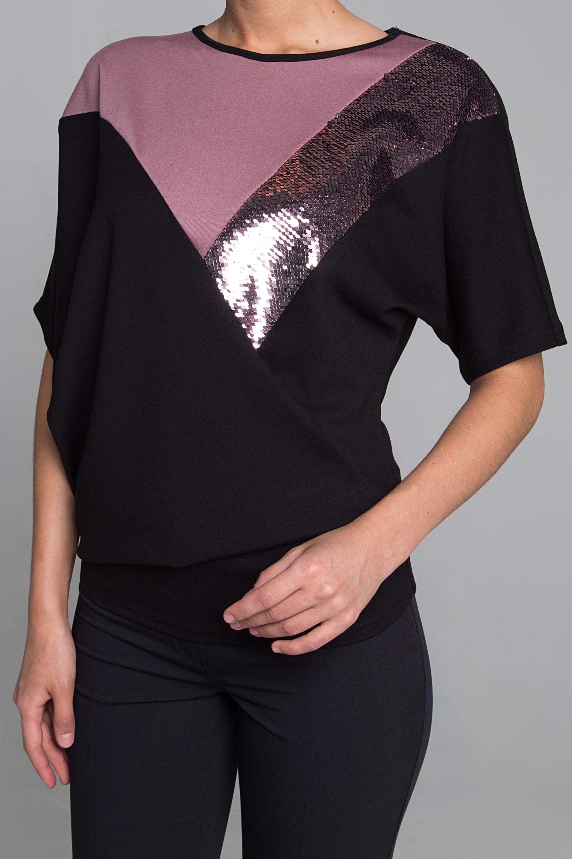 Блузка  полуприлегающего силуэта из трикотажа 0197-01-13-00-24